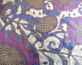 "Silk Scarves - Silk Scarf Hand Painted - Silk Shawl Hand Painted - Silk Scarf Purple - Square Scarf 35"" ( 90cm ) - OOAK For Order"