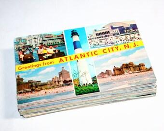 75 Vintage Atlantic City New Jersey Chrome Postcards Blank - Wedding Guest Book