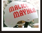 Custom Roller Derby Vinyl Sport Helmet Decal Single Name TL Kelly Graphics