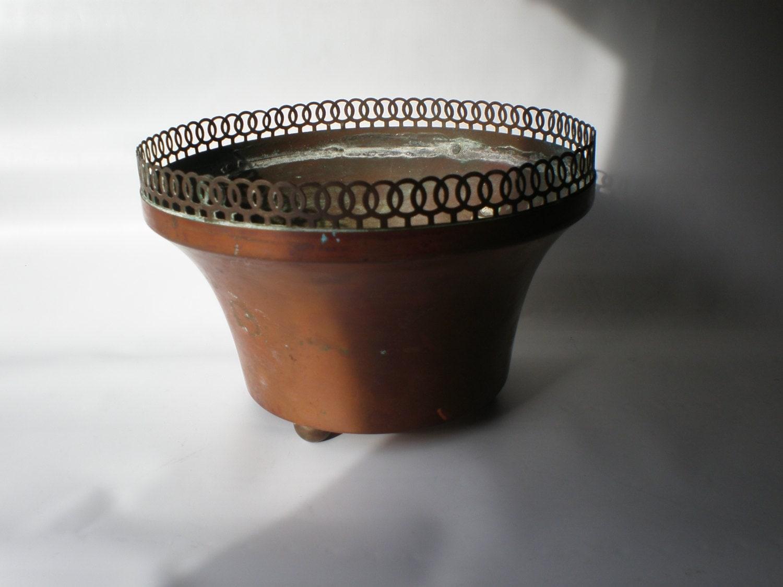 Sale Vintage Unusual Copper Planter