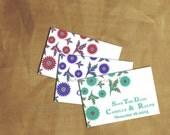 Save The Date Card Custom Design Pdf Diy PRINTABLE MARIGOLD Wedding Invitation Set Template Spring Summer Floral Modern Country Rustic Cheap