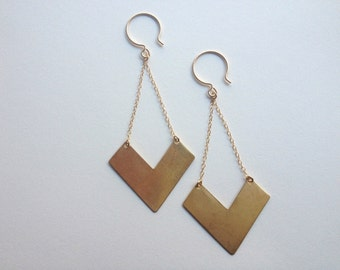 perfect chevron earrings