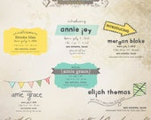 INSTANT DOWNLOAD - Birth Announcement Words Overlays vol.4