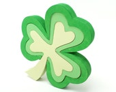 Green Shamrock Puzzle and Decor