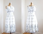 RESERVED 1950s Dress - 50s Dress -  Black And White Party Dress