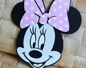 Handmade Minnie Mouse Invitations - For Birthdays, Baby Showers