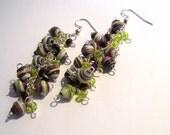 Grape Cluster Paper Bead Earrings
