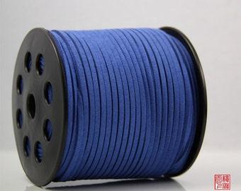 5M Royal Blue Micro Fiber Suede Cord