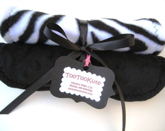 Black and White  Burp Cloths - Zebra Stripes