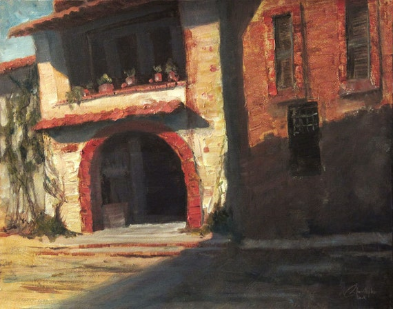 florence italy the house next door original oil