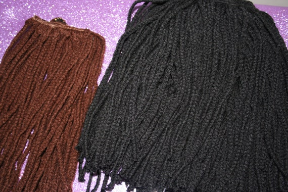 genie locs/ yarn braid sew in kit 7-16 inches