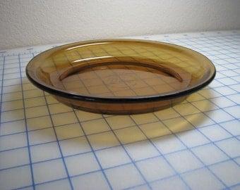 "Vintage Anchor Hocking Amber 9"" Pie Plate"