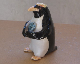 Penguin made of porcelain clay