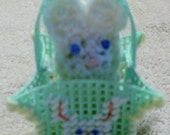 Green Easter Bunny Peek A Boo Basket