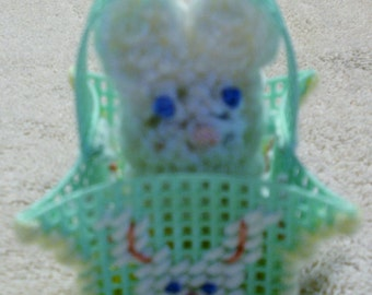 Green Easter Bunny Peek A Boo Basket