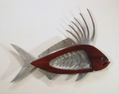Large Rooster Fish Contemporary Sculpture