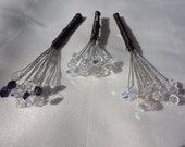 Reserved for amandamerriman1 - 3 Swarovski Crystal Boutonnieres