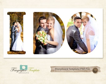 Photography Storyboard Templates Wedding Storyboard Photoshop Template for Photographers - S122