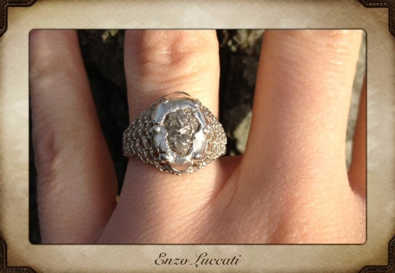 Raw Rough Diamond-cluster - Solitaire- promise-one of a kind engagement ring