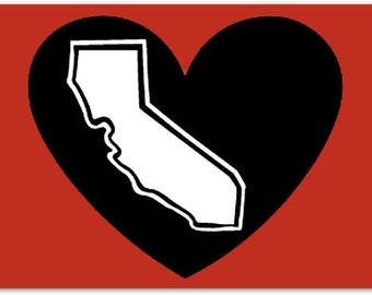 The Original Classic The California Blackheart Decal