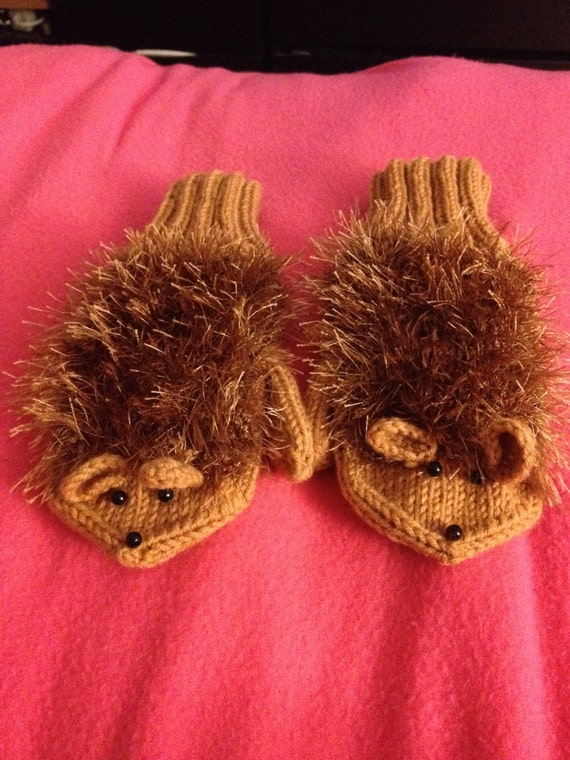 Eco-Friendly,Fall -Children Holiday -Cute hedgehog gloves for children-For the Kids-Children's Clothing Sizes