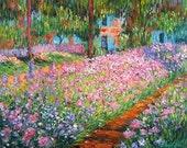 Artist's Garden at Giverny - Cross stitch pattern pdf format