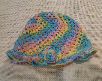 Children crochet cotton hat