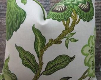 Celerie Kemble / F. Schumacher Fabric Pillow Cover 20 x 20 - Hot House Verdance