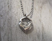 Artisan Heart Necklace on Sterling Silver Chain
