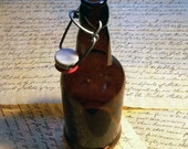 16 oz Amber Glass Drinking Bottle with Latch Cork