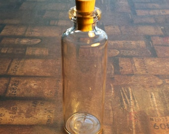 Small Clear Glass Bottle with Cork