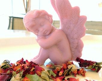 ANGEL SOAP, Cherubim Soap, Cherub Scented Rose, Vegetable Based, Handemade