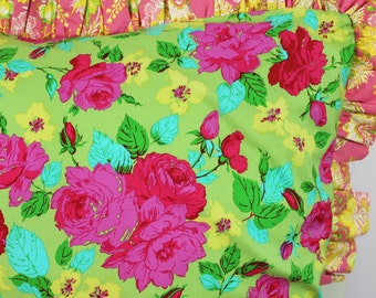 Ruffled Sham in Chelsea Bedding Design.. Euro or Standard Size Sham available at Sugar Creek Bedding