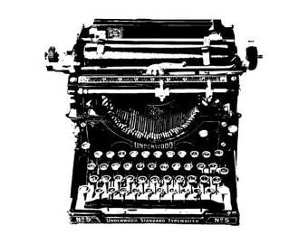 Vintage Typewriter Illustration - Fine Art Print - 5x7