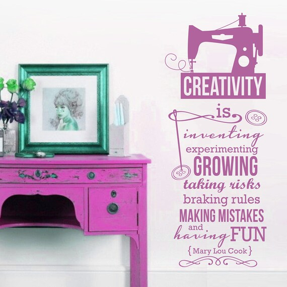 Items Similar To 1 Color Creativity Quote Life Hobby Sew