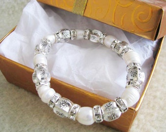 Wedding Bracelet, Pearl Bracelet, Rhinestone Bracelet, Bridal Bracelet, Wedding Jewelry, Pearl Jewelry, Rhinestone Jewelry, pearls bracelet,