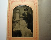 Antique Tintype -  Paper mat - dated 1906 - Bon Ton 1/6 plate   INV 901