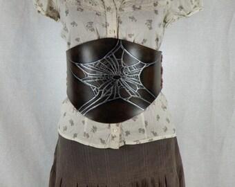 Spider Web Under Bust Corset