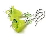 Lemon Sunshine Floral Crystal Earrings