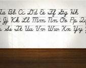 Set of 2 - Cursive and Manuscript D'nealian Alphabet