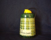 Vintage Thermos Retro Plaid Yellow and Green Pelican
