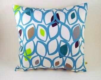 Sale, decorative pillow cover, Modern pillow cover, retro pillow cover, teal pillow cover, lime pillow cover, modern cushion,retro cushion
