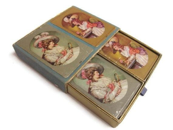 Congress Sealed Double Playing Card Deck Set: Georgian Ladies