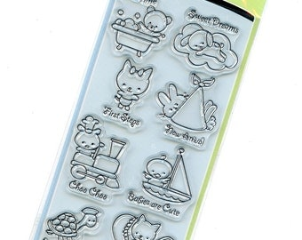 Clear Acrylic Stamps from Inkadinkado - Baby Love