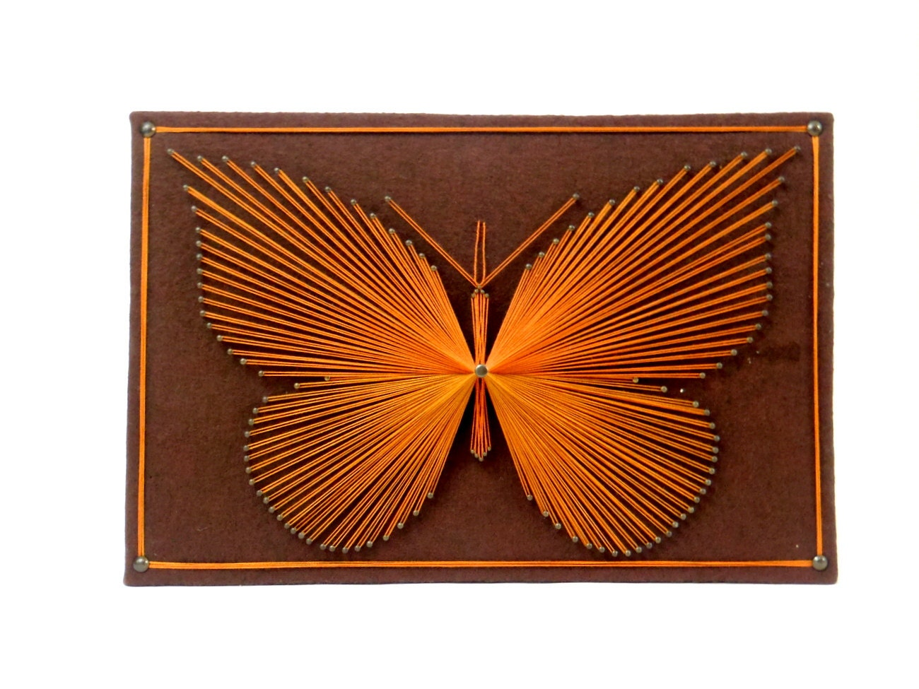 Butterfly String Art Wall Hanging Plaque Vintage By Honestjunk