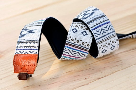 iMo White Navajo Camera Strap suit for DSLR / SLR