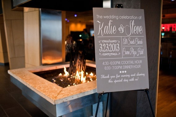 Wedding Ceremony/Reception Welcome Sign By IDoSignDesigns