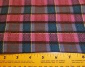 Vintage Plum Plaid Fabric by Leo Moses Textiles