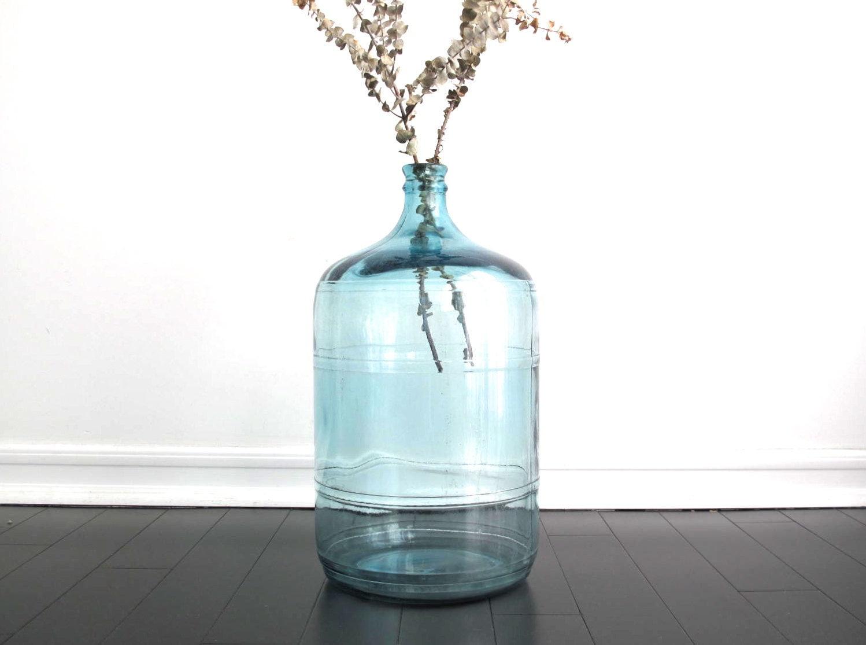 vintage blue glass water jug 5 gallon bottle by snapshotvintage. Black Bedroom Furniture Sets. Home Design Ideas