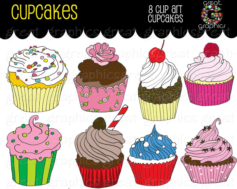 Free Printable Images Of Cupcakes : Birthday Party Cupcake Clipart Printable Birthday Party